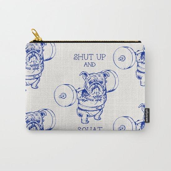 English Bulldog Squat Carry-All Pouch