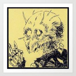 Jawless Demon Art Print
