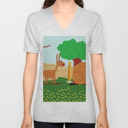 Lunchtime, Yummy Hay! Unisex V-Neck
