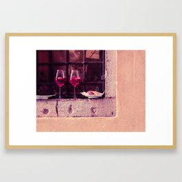 Window in Venice Framed Art Print