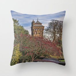 Cardiff Clock Tower. Throw Pillow