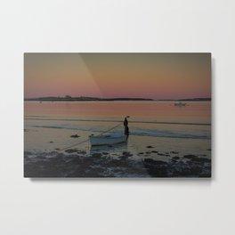 Sunset, Waterman's Beach, Maine Metal Print