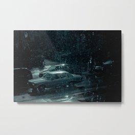 City in the rain Metal Print