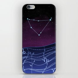 Capricorn Zodiac Constellation Design iPhone Skin