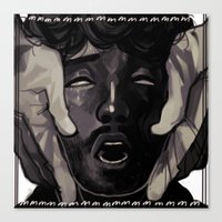 will graham Canvas Prints featuring Graham by Frank Odlaws