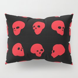 redhead - red on black Pillow Sham
