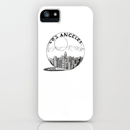 Los Angeles City in a Glass Ball iPhone Case