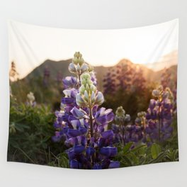 Mountain Lupine Photography Print Wall Tapestry