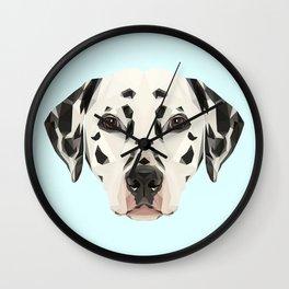 Dalmatian // Pastel Blue Wall Clock