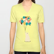 Penguin Bouquet Unisex V-Neck
