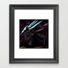 Mr. Ray hits the road again. Framed Art Print