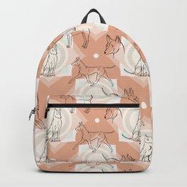 Thai Ridgeback Pattern in Light Terracotta Backpack