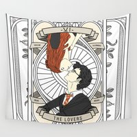 harry potter Wall Tapestries featuring Harry Potter Tarot by Luke Eckstein