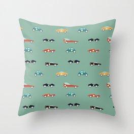 Racers Throw Pillow