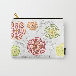Watercolour flower and leaves pattern Carry-All Pouch