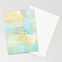 Matthew 11:28 Stationery Cards
