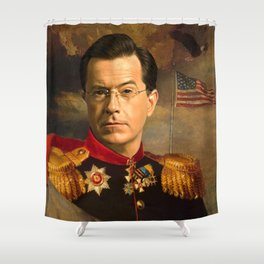 Stephen Colbert 19th Century Classical Painting Shower Curtain