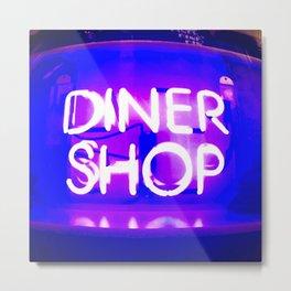 Diner Shop Metal Print