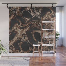 Ruin - Dark Suminagashi Marble Series: 01 Wall Mural