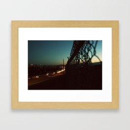 the green chainlink Framed Art Print