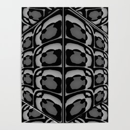 INCREDIBLE BLACK WHITE AND GREY 3D GRAPHIC DESIGN Poster
