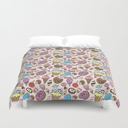 Desserts and Sweets Duvet Cover
