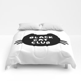 Black Cat Club Comforters