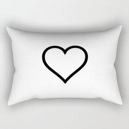 Simple Heart Rectangular Pillow