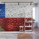 Flag of Chile - Raindrops by drpen