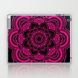 Mandala Flower Pink & Black Laptop & iPad Skin