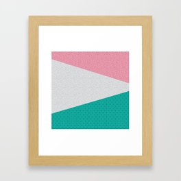 Memphis Patterns Framed Art Print