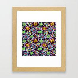 Sticker neonpard Framed Art Print