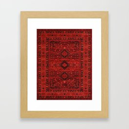 N102 - Oriental Traditional Moroccan & Ottoman Style Design. Framed Art Print