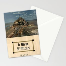 poster Le Mont St Michel Stationery Cards