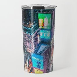 Times Square Nighttime Landscape Painting by Jeanpaul Ferro Travel Mug