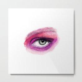 Watercolor eye, pink eye, watercolor painting Metal Print