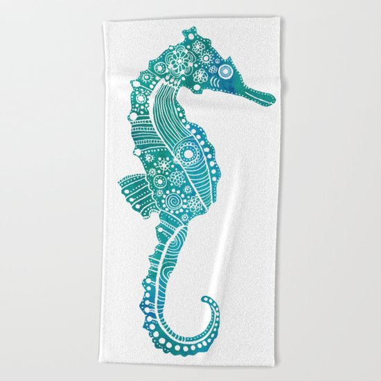 Seahorse Love Beach Towel