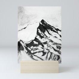 MOUNTAIN TOPS, peaks, snow Mini Art Print
