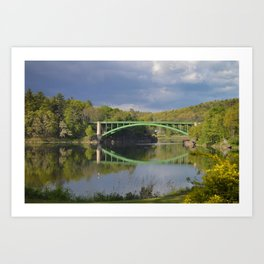 Summer Storm Clouds - Delaware River Art Print