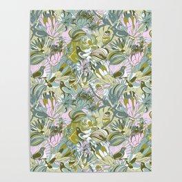 Tropical paradise   Grayish Turquoise Poster