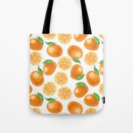 Watercolor tangerines Tote Bag