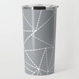 Abstract Dotted Lines Grey Travel Mug