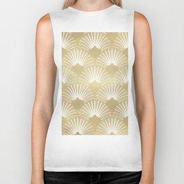 Gold foil look Art-Deco pattern Biker Tank