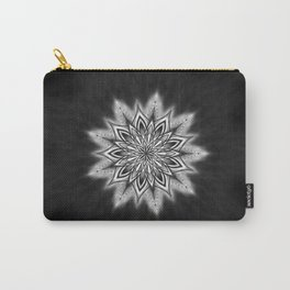 Black Ice Mandala Swirl Carry-All Pouch