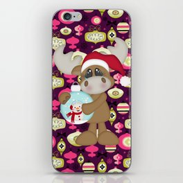 Christmas Ornaments Moose iPhone Skin