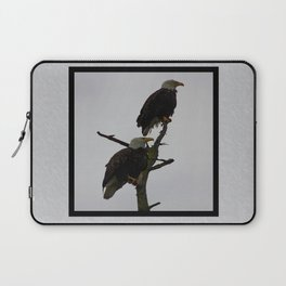 bald eagle pair in the rain (square) Laptop Sleeve