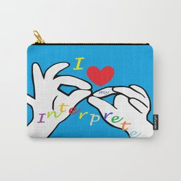 I Heart my Interpreter Carry-All Pouch