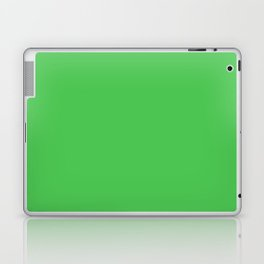Solid Bright Kelly Green Color Laptop & iPad Skin