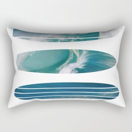 My Surfspots poster-5-Devils-Point-Tasmania Rectangular Pillow