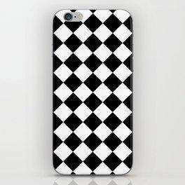 Rhombus (Black & White Pattern) iPhone Skin